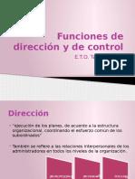 Funciones de Dirección y de Control