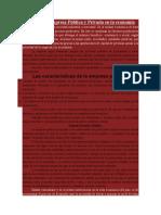 Papel de La Empresa Pública y Privada en La Economía