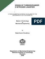 Process Design of Turboexpander
