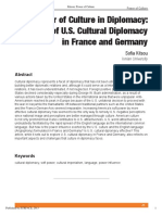 The Power of Culture in Diplomacy