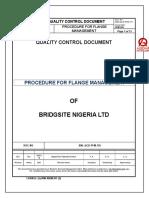 Procedure for Flange Management