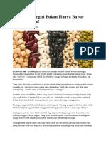 Makanan Bergizi Bukan Hanya Bubur Kacang Hijau