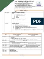 3. Jadwal Acara - Survei Akreditasi Program Khusus RS TK. III Bhakti Wira Tamtama