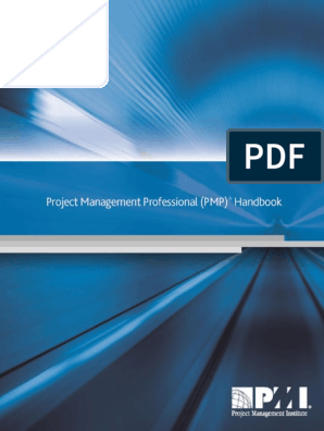 PMP handbook pdf | Project Management Professional