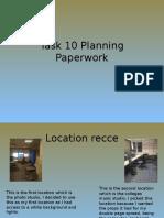 Task 10 Planning Paperwork