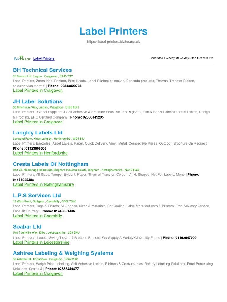 Label Printers BizHouse uk | Barcode | Printer (Computing)
