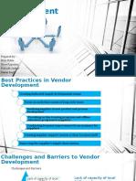 Vendor Development