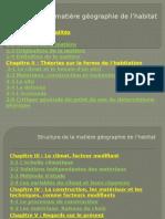 Structure de La Matière Géographie de L_habitat