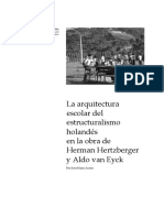 La arquitectura escolar del estructuralismo holandés en la obra de Herman Hertzberger y Aldo van Eyck - Flor Inés Marín Acosta