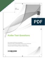 Kolbe Test Questions