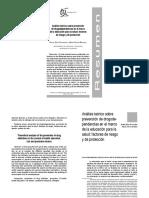 Prevencion, Analisis Sociologico, 2008