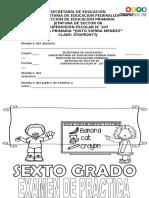 Examen Ingreso a Secundaria