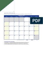 9 Blank September 2016 Calendar