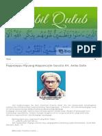 Tibbil Qulub_ Pappejeppu Ripuang Mappancajie Gurutta KH. Ambo Dalle
