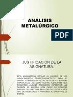Sesion de Apertura Analisis Metalurgico