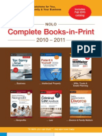 Nolo Complete Books-in-Print 2010-2011