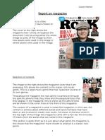 report on magazine