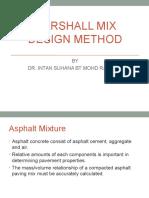 Density Analysis and Marshall Mix Method (1)