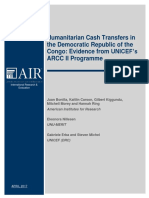 Humanitarian Cash Transfers in the Democratic Republic of the Congo