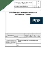 Procedimiento de Prueba Hidráulica de Líneas de Proceso Revisado