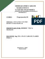 Programacion 3 Primer Trabajo Php
