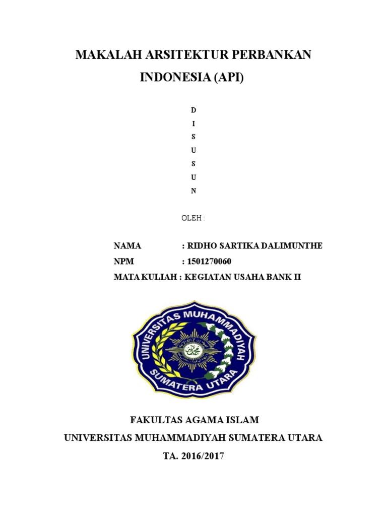 Makalah Arsitektur Perbankan Indonesia