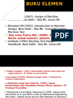 (1) Daftar Buku Elemen Mesin