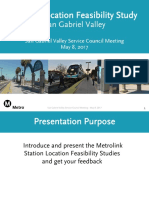 Metrolink Station relocation study presentation