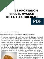Quines Aportaron Para El Avance de La Electricidad