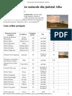 Lista Rezervațiilor Naturale Din Județul Alba - Wikipedia
