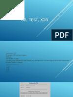 OR, test, xor
