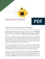 Tabla de Nivel de Riesgo de Demanda - Defensa Del Deudor - Asesoria, Defensa y Negociacion Para Deudas Por Tarjetas de Credito, Prestamos Bancarios, Hipotec[1]