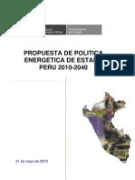 1.Presentación Política Energética 2010 - 2040