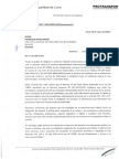 Carta de respuesta Protransporte a solicitud de información pública