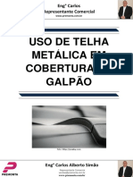 Uso de Telha Metálica Em Cobertura de Galpão