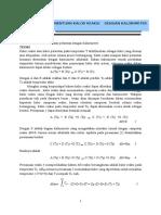 1. Penentuan Kalor Reaksi Dengan Kalorimeter