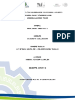 Act. #7 Mapa Mental de 3.4 Delegación Del Trabajo-unidad 3