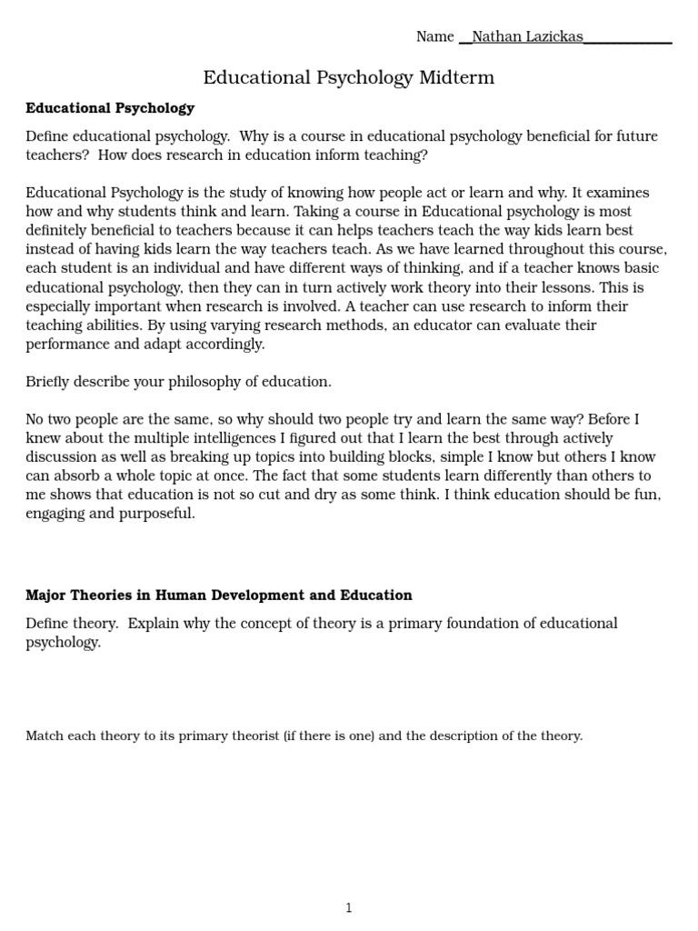 describe the major theories of human development
