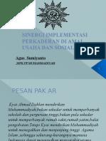 Presentasi Sinergi Implementasi Perkaderan Aumkes Dan Sosial