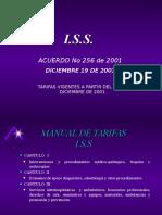 Manual Tarifario Iss 2.001 (Acuerdo 256 de 2.001)