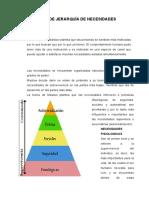 Teoría de La Jerarquía de Las Necesidades