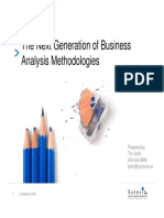 Next Generation of Business Analysis Methodologies