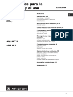 Manual Uso Ariston Aqualtis Aq9f29x