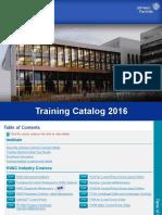 BE 2016TrainingCatalog