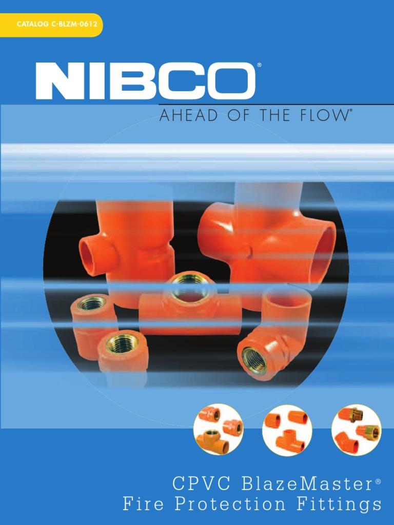 "BlazeMaster 1/"" CPVC Cap Fire Sprinkler System Orange Pipe Fitting 5 Pieces"