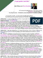 """""""Ce Que Parler Veut Dire"""" - Pierre Bourdieu"""