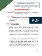 Memoria Descriptiva - proyecto Canal