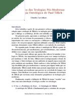 Uma Crítica Das Teologias Pós-Modernas à Teologia Ontológica de Paul Tillich