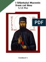 Acatistul Sfântului Mucenic Efrem Cel Nou