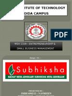 Case Study of Subhiksha